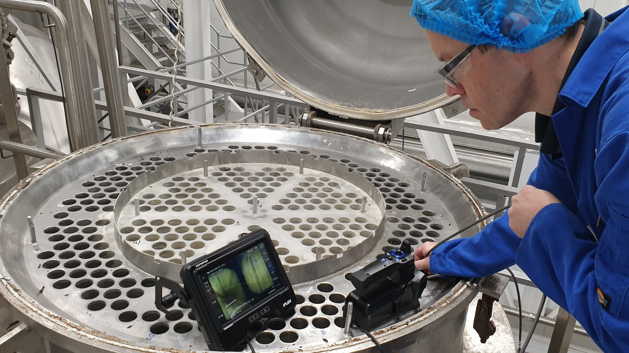 Heat exchanger, evaporator and condenser tube bundle inspection using video endoscope uv equipment and innovative testing methods